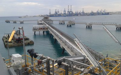 Liquefied natural gas (LNG) import and re-gasification facility based on folating LNG storage vessel