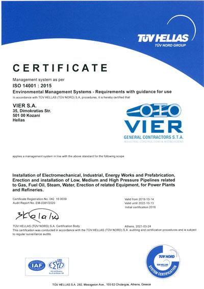 VIER ISO 14001 2015 EN