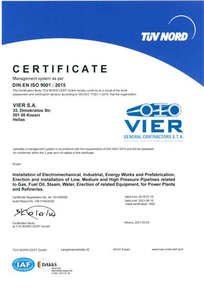 VIER ISO 9001 2015 EN